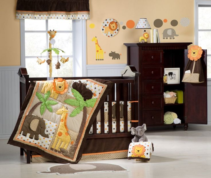 carter 39 s 4 piece crib bedding set sunny safari baby. Black Bedroom Furniture Sets. Home Design Ideas