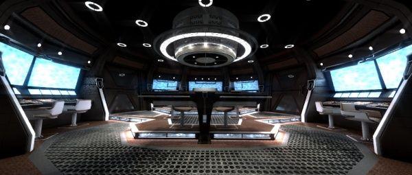 single person bridge sci fi spacecraft - photo #34