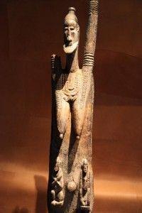 Le Mythe de l'androgyne - Discours d'Aristophe,  Platon, le Banquet - Photo : Musée du quai Branly, Paris - Statue androgyne en bois pré-Dogon du Mali (X-XIème siècle)