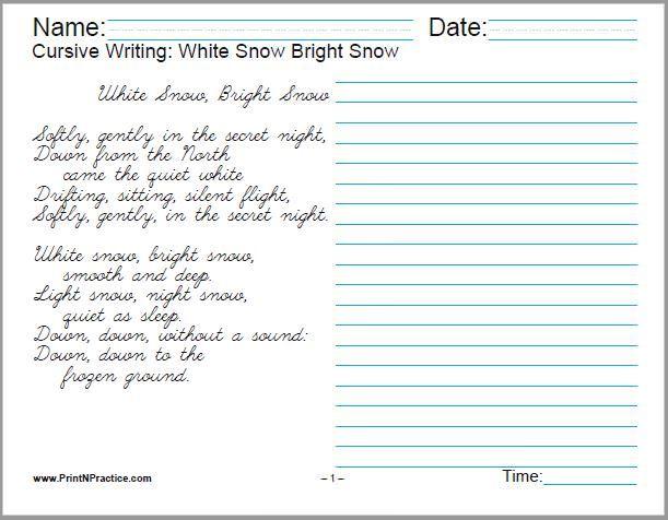 50 Cursive Writing Worksheets Alphabet Sentences