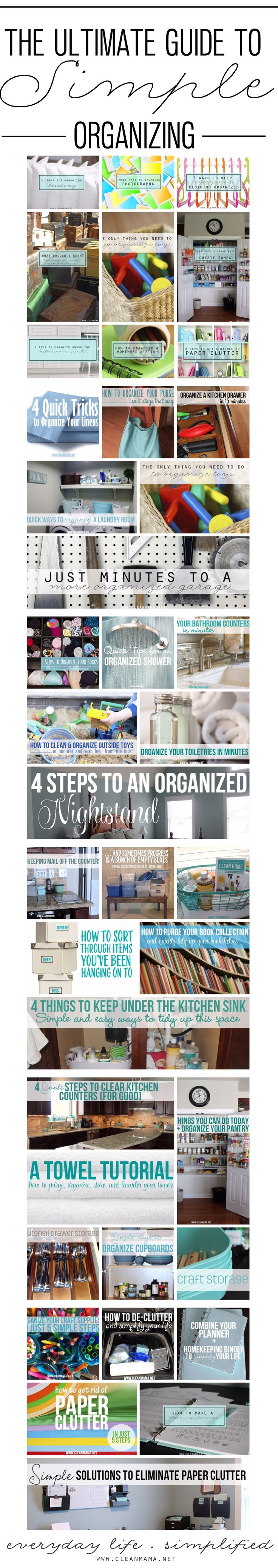 Organize anything and everything with this comprehensive resource! From bedrooms to kitchens to everything in between, this has got you covered.