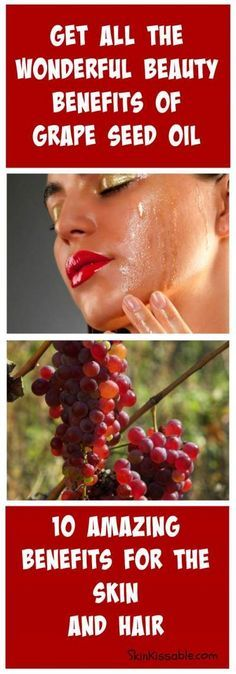 Grape seed oil has many uses and beauty benefits. Use it to boost the skin and hair.