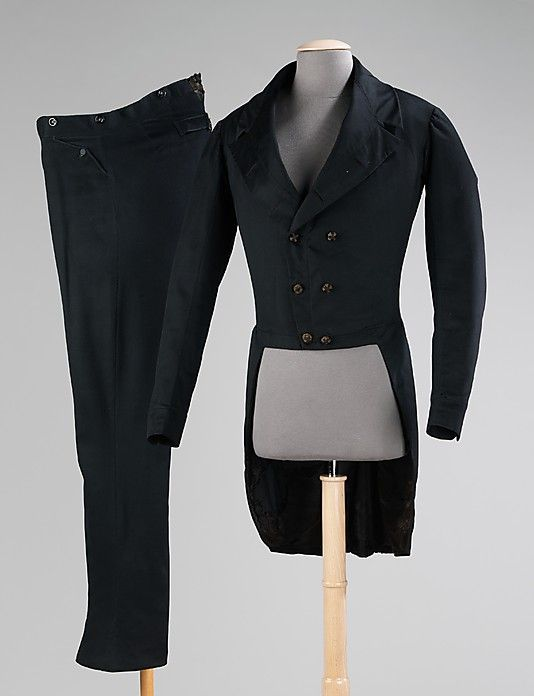Suit, Date: 1830–40 Culture: American Medium: wool, synthetic  Costume Collection at The Metropolitan Museum of Art,  Accession Number: 2009.300.218a, b
