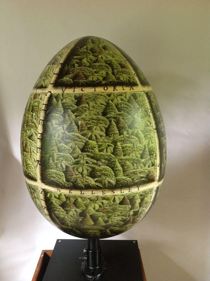 'Bush Egg' the big egg hunt, Auckland 2015, by Mark Wooller. www.markwooller.com