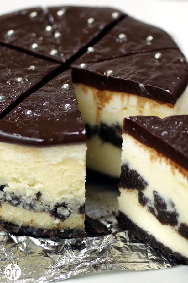 "Chocolate Cookie Cheesecake | ""Wow! What a great dessert! This is one of the most delicious, rich, and decadent desserts I have ever eaten!!"""
