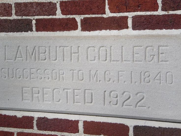 stone placed at time Lambuth College name was adopted; changed to Lambuth University after 1991; closed 2011; campus acquired by the University of Memphis for a branch campus; Jackson, TN