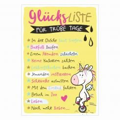 Postkarte »Glücksliste«