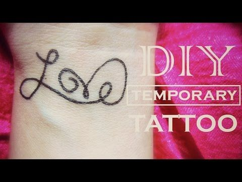 DIY Temporary Tattoo - Love | How to Make a Fake Tattoo - YouTube