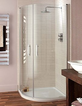Image of Lakes Italia Lavello Pivot Door Quadrant Shower Enclosure 900 x 900mm