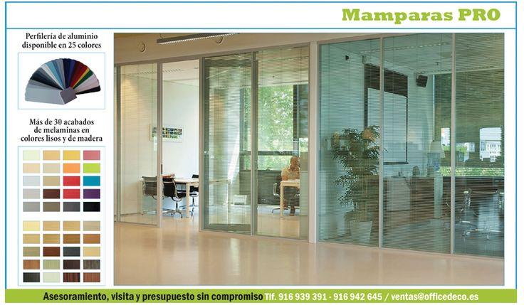 Mamparas de oficinas en madrid serie Pro | Muebles y sillas de oficina.