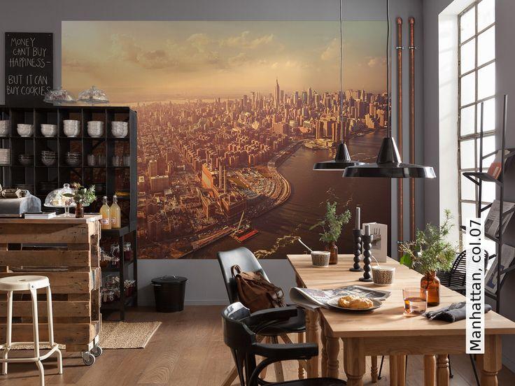 Die besten 25+ Manhattan tapete Ideen auf Pinterest New York - tapeten wohnzimmer ideen 2014