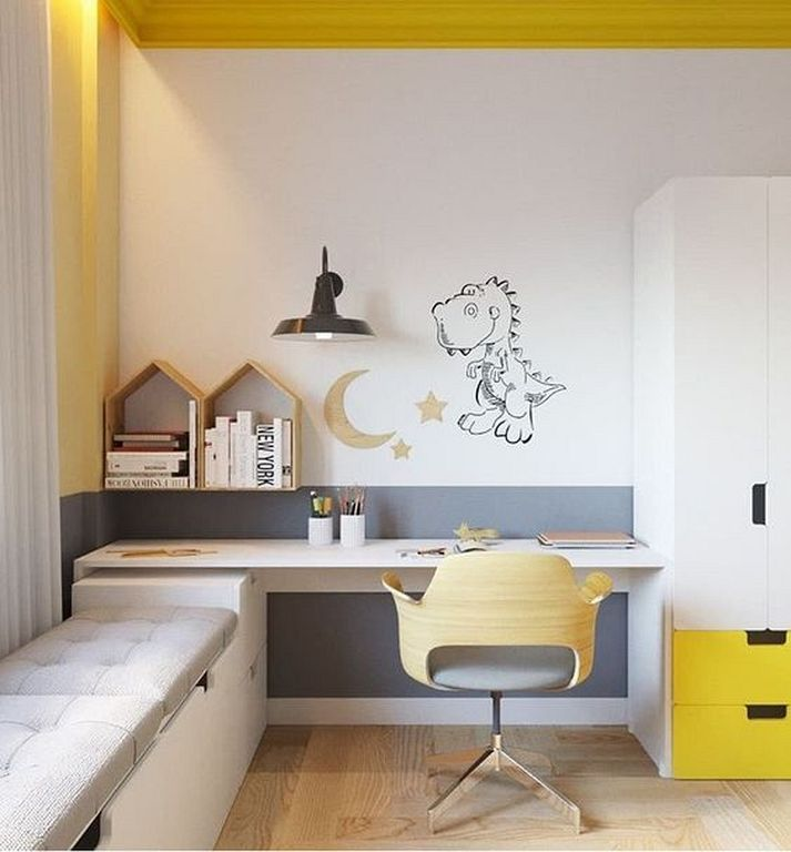 20 Gorgeous Small Kids Bedroom Ideas With Study Table Soverom For Barn Gutterom Hjem