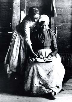 Freedpeople reading, c. 1865-1890. During reconstruction, the Freedman's Bureau, missionary societies, and blacks themselves established over 3,000 schools in the South, laying the foundation for public education in the region.   Many young men and women who attended freedman's schools became teachers who instructed the next generation.