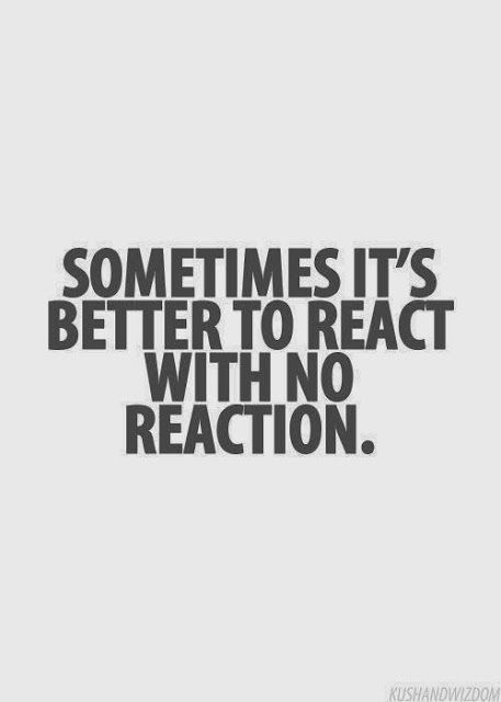 Sometimes it's better to react with no reaction | Anonymous ART of Revolution