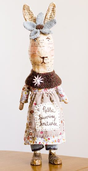 """Julie Arkell - """"A Rabbit becoming Knitwise"""""""