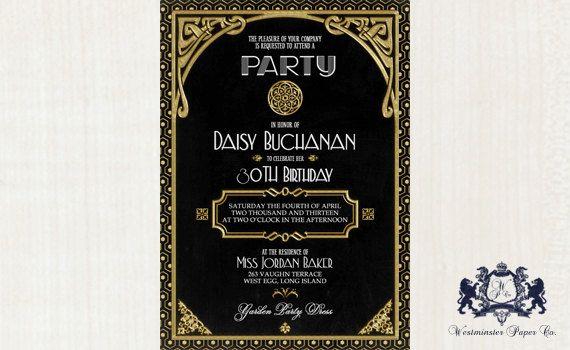 Gatsby Party Invitation - klejonka