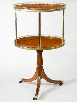 Circular Dumbwaiter (Etagere), English. Satinwood, Two Tiered · Georgian  FurnitureRegency ...