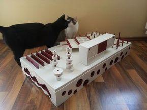 Fummelbrett und Fummelbox DIY – Selbst ist die Frau – Do it yourself – Katzenfor …