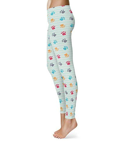 Paw Prints Fleece Leggings - M XS-3XL