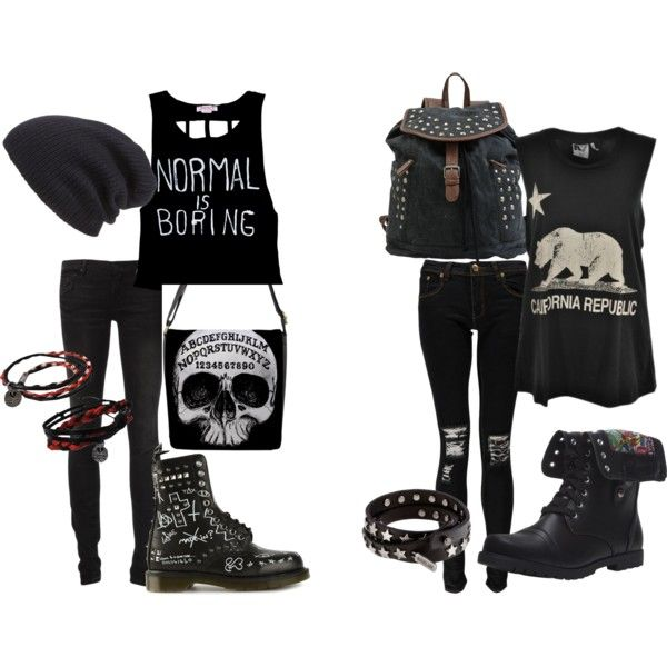 Itu0026#39;s a Black Out | Clothes Completed Outfits | Pinterest | Tomboy Holidays and Polyvore