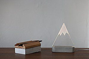 Snowy mountain lamp , modern table lamp, concrete night light, winter decorative lamp