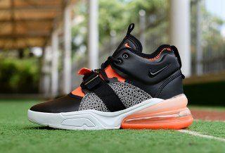 super popular d45fe a1c10 Nike Air Force 270 Black Hyper Crimson Wolf Grey AH6772 004 Mens Sneakers  Safari