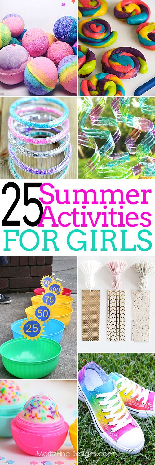 Summer Activities for girls | free printables | crafts & games for tweens, teens, kids of all ages | summer fun and entertainment