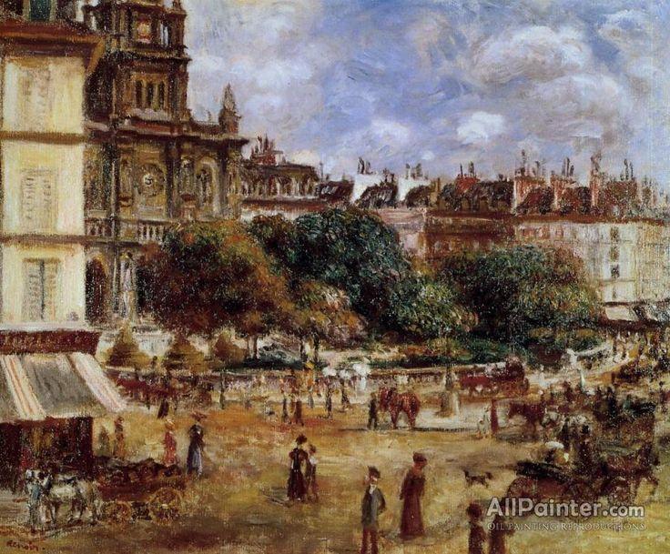 Pierre Auguste Renoir Place De La Trinite, Paris oil painting reproductions for sale