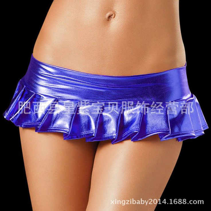 2017 Women Hot Sexy Latex Skirts Suit Pole Dance Clubwear Patent Leather Micro Mini Skirts Set Nightclub Pencil Package - MISS LADIES