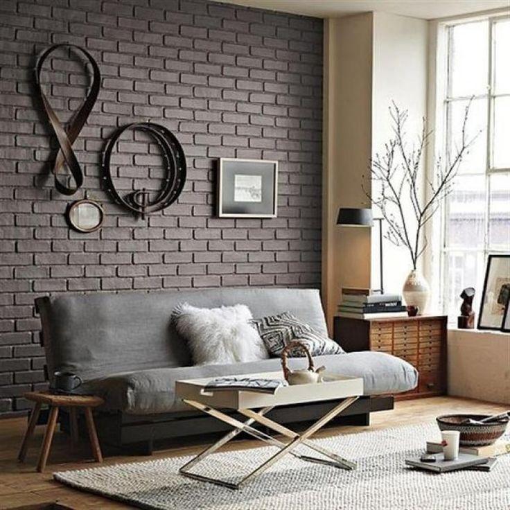 Стена темного кирпича встречается реже, чем белые или красные кирпичные стены. От темного цвета кирпичной стены веет загадочность и относит к готике. #brick #designminsk #дизайнминск