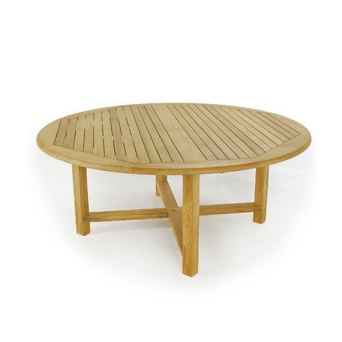 buckingham 6 foot diameter round teak outdoor tab