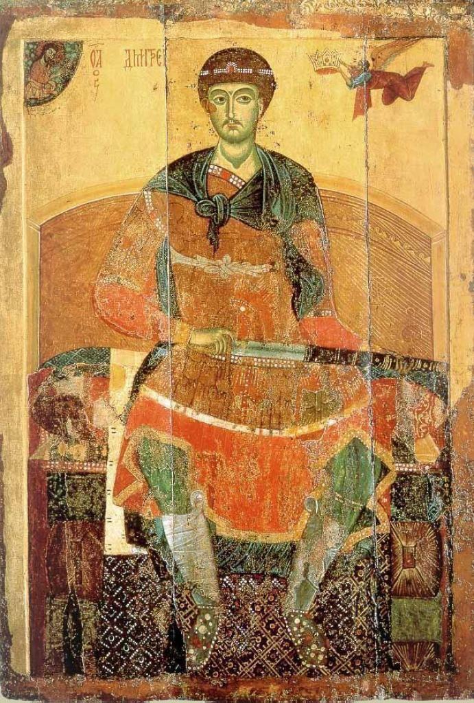 Димитрий Солунский (русская икона, 1275–1300 годы) Неизвестный русский иконописец, Public Domain