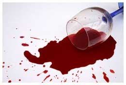 Equal parts Hydrogen Peroxide and Dawn to fix spilled wine. I just tried it and it worked!