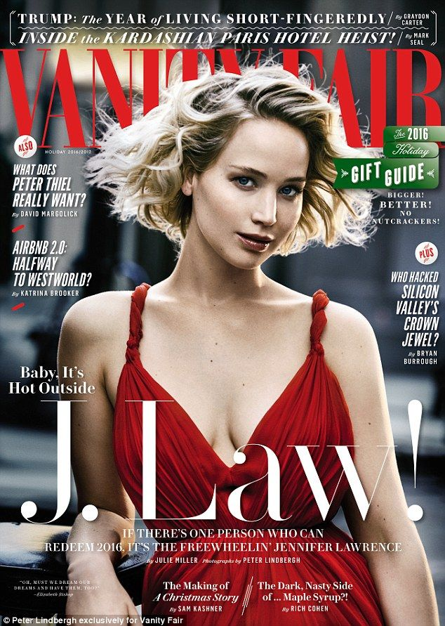 Quite the fan! Jennifer Lawrence complimented new boyfriend Darren Aronofsky in her cover story for Vanity Fair's holiday issue, gushing: 'He's a visionary'