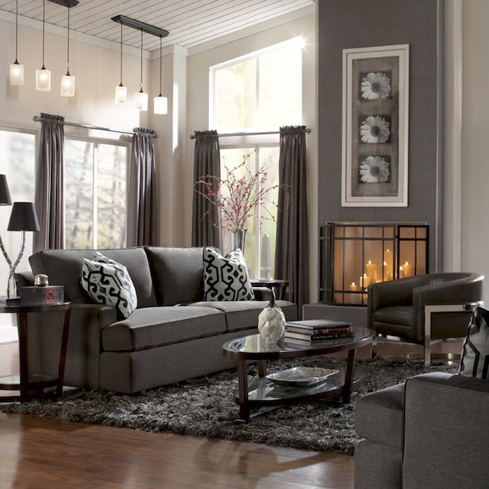Elegant Looking Bernhardt Sofa Collection : Fetching Bernhardt Dexter Two  Seat Sofa In Gorgeous Living Room With Glass Top Oval Wood Coffee Table And  Grey ...