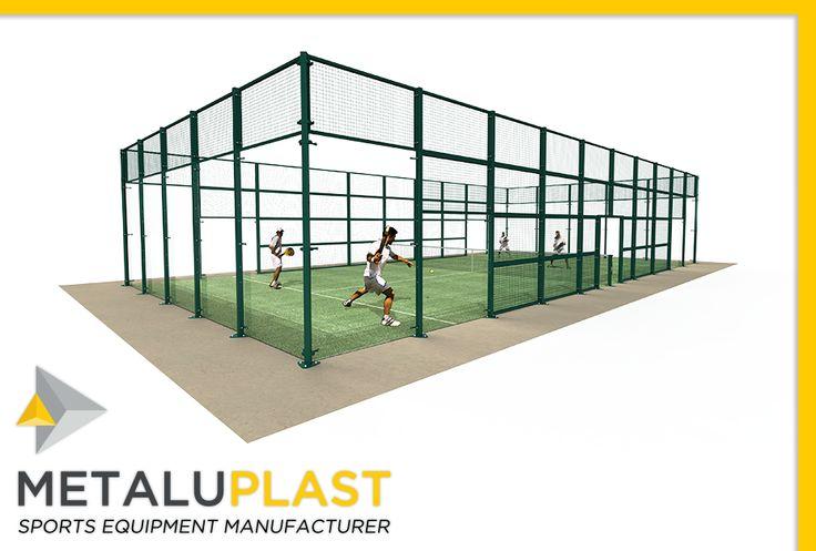 Parmi nos différents terrains multisports, voici le Padel tennis. #MetaluPlast #ÉquipementSportif #Terrain #Multisports #Tennis #Padel