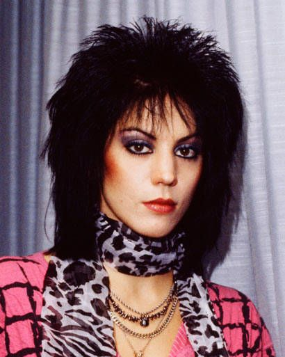 In 1984, Jett's famous mullet hairstyle reached new heights (see photo at left). The do made a comeback earlier this year—at least cinematically—thanks to Kristen Stewart, ELLE's June cover girl, who portrayed the rocker in a Runaways biopic (look for the DVD and Blu-ray on July 20).    - ELLE.com
