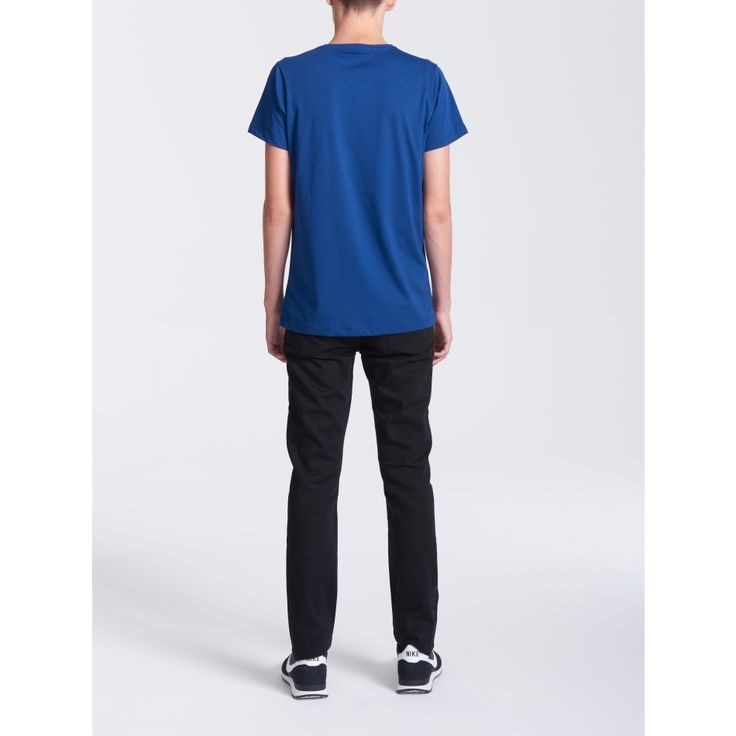 Crew Neck Navy T-shirt - Men