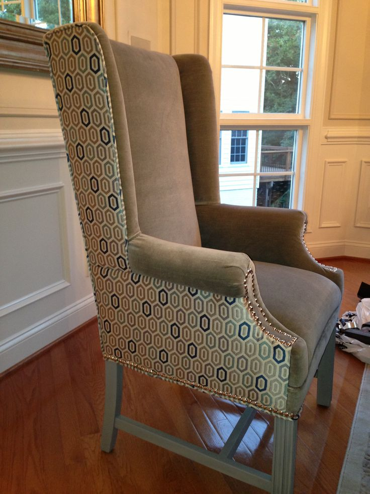 Two Tone Wingback Chair Chairs Pinterest Chairs Two