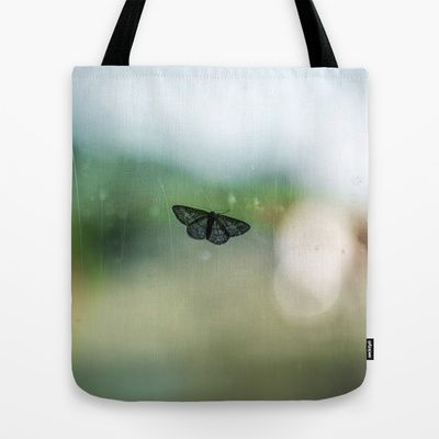 The Immobile Moth Tote Bag by Sarah Zanon - $22.00