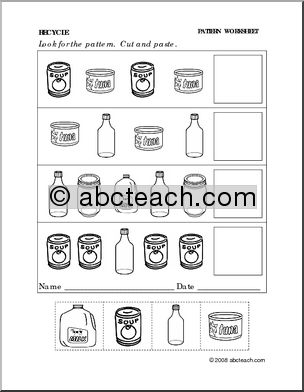 Worksheet Recycling Worksheets Pdf 85 best recycle images on pinterest school preschool art and worksheet follow the pattern preschoolprimary preview 1