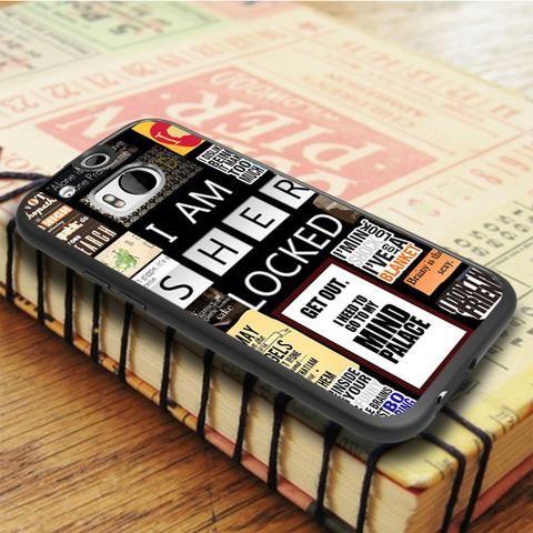 A Bunch Of Sherlock HTC One M8 Case