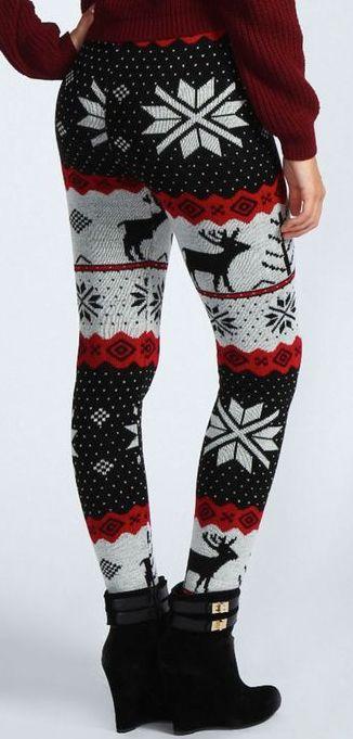 Reindeer Knit Leggings!