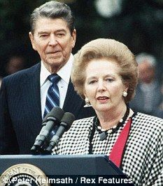 US President Ronald Reagan and Prime Minister Margaret Thatcher.