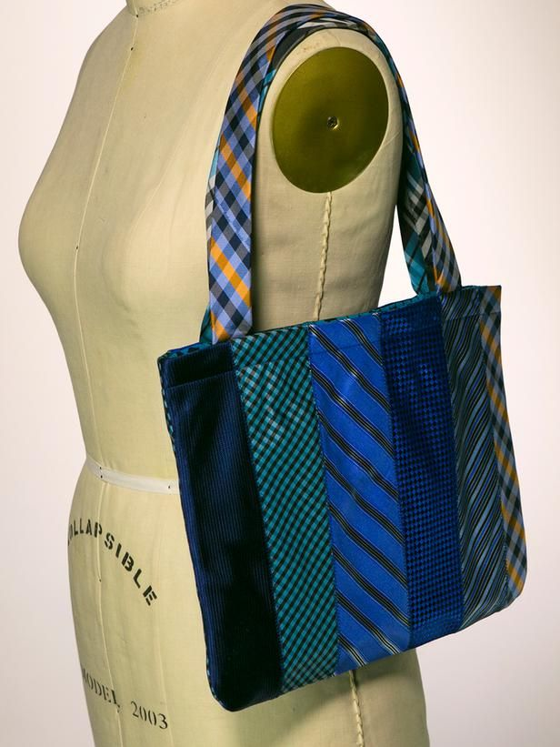 How To Make a Tote Bag Out of Neckties >> http://www.diynetwork.com/decorating/how-to-make-a-tote-bag-out-of-upcycled-neckties/pictures/index.html?soc=pinterest