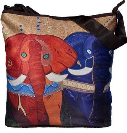 Elephants Large Square Bucket  Handbag by by SalvadorKitti on Etsy, $37.98