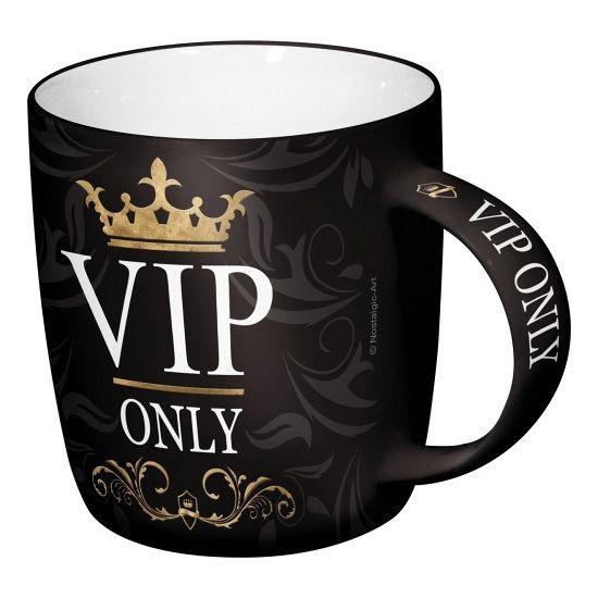 Mok VIP 33 cl. Drink beker met de tekst VIP lounge. Afmeting van de mok is ongeveer 9 x 8,5 cm. Inhoud 330 ml.