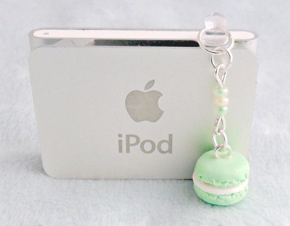 Hey, I found this really awesome Etsy listing at http://www.etsy.com/listing/154314879/green-macaron-dust-plug-charm-phone