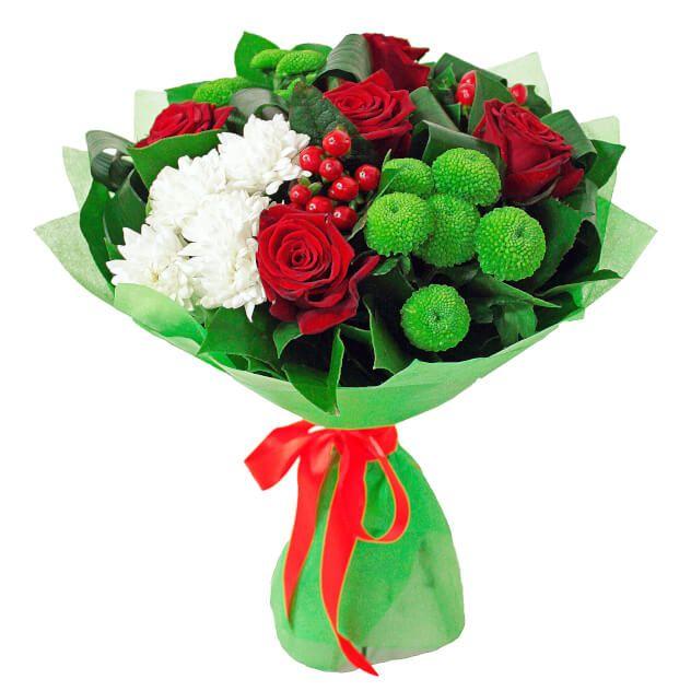 """Букет Букет """"Цвет счастья"""". Курьерская доставка цветов на заказ: домой, в офис, в другой город. Прием заказов через интернет в Москве"""