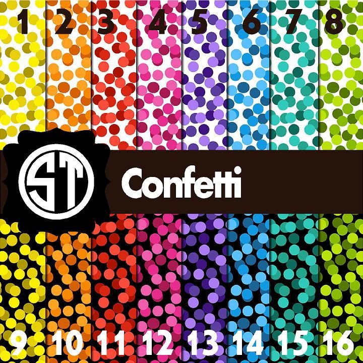 Confetti Patterns Printed Vinyl Or Heat Transfer Vinyl Iron On You Choose6x6 8 5x11 12x12 12x24 And 12x36 By Southerntreasures Print Patterns Etsy Prints